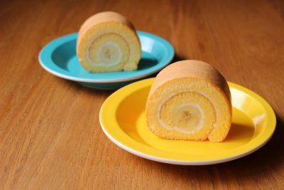 米粉のバナナロールケーキ