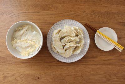 白菜と鶏ひき肉の水餃子
