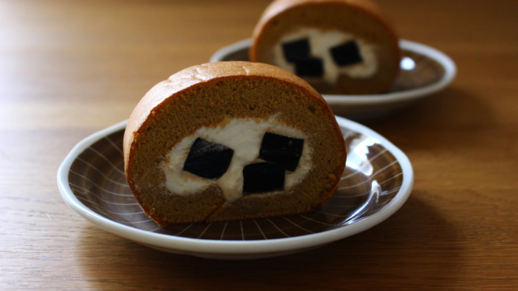 珈琲ゼリーin黒糖ロールケーキ