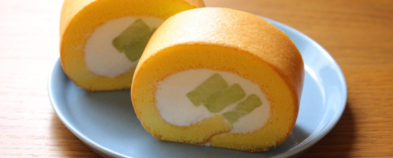 メロンロールケーキ