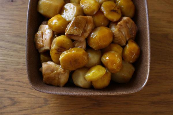栗と里芋、鶏肉の煮物