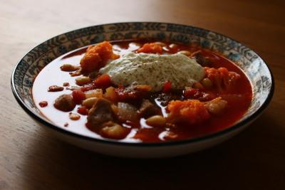 塩豚のトマトシチュー