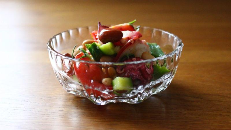 たこと豆のサラダ