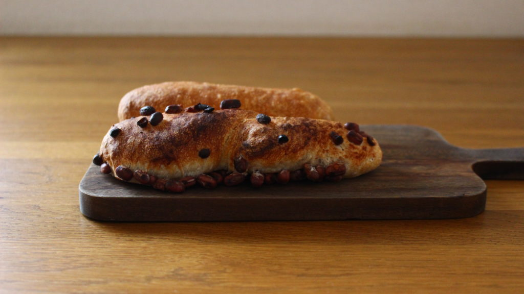 小豆のパン