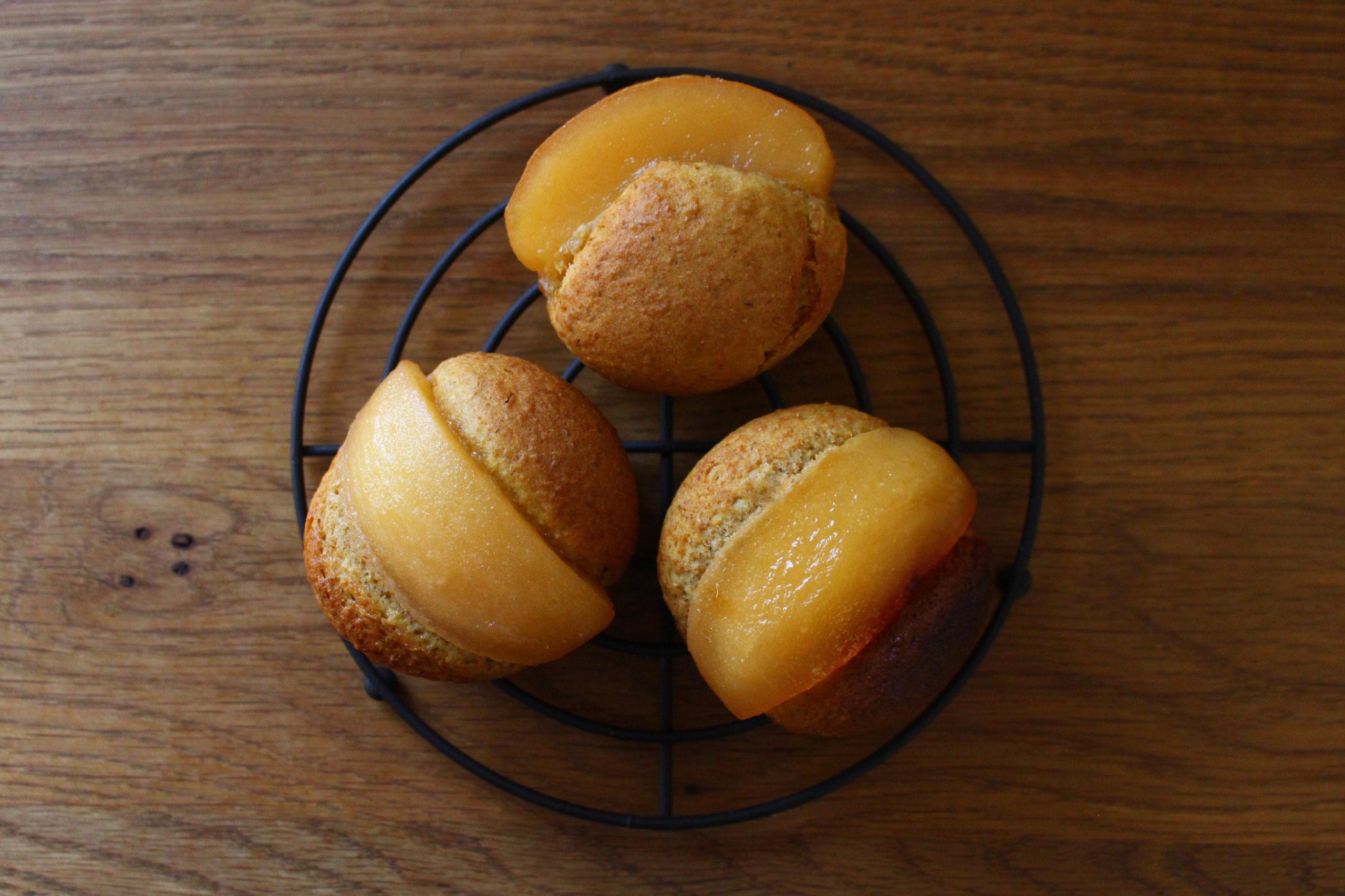 りんごの全粒粉マフィン
