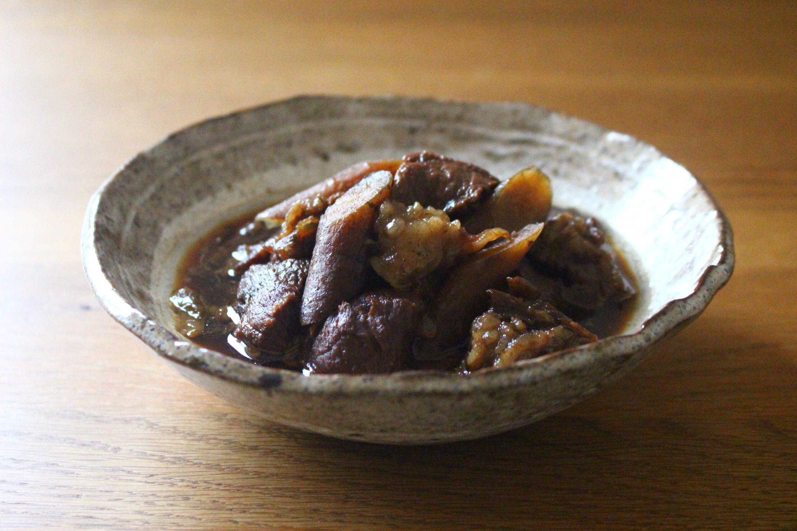 牛すじとごぼうの煮物